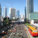 Harry Hilders: totaalfoto van Jakarta op een autovrije dag