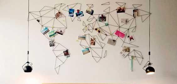 instax foto op een wereldkaart