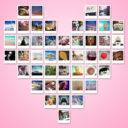 instax fotos in een hartjesvorm